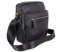Мужская кожаная сумка Dovhani T2016666 Черная, фото 1