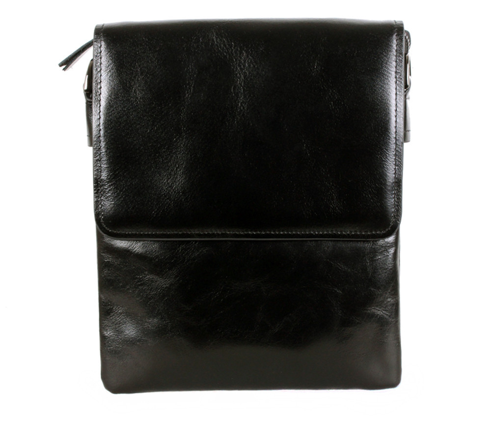 Мужская кожаная сумка Dovhani BLACK007-222 Черная, фото 1