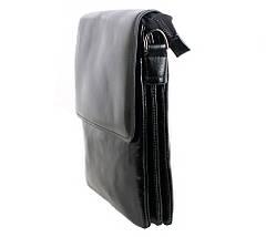Мужская кожаная сумка Dovhani BLACK007-222 Черная, фото 3