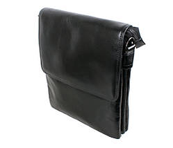 Мужская кожаная сумка Dovhani BLACK007-222 Черная, фото 2