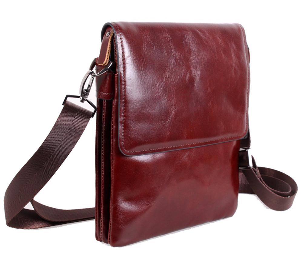 Мужская кожаная сумка Dovhani COFFEE007-44 Бордовая