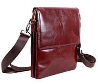 Мужская кожаная сумка Dovhani COFFEE007-44 Бордовая, фото 1