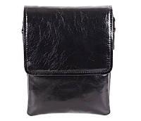 Мужская кожаная сумка Dovhani DL008-445 Черная В20 х Ш16,5 х Г5см, фото 1