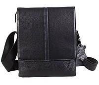 Мужская кожаная сумка Dovhani DL1588-487 Черная, фото 1