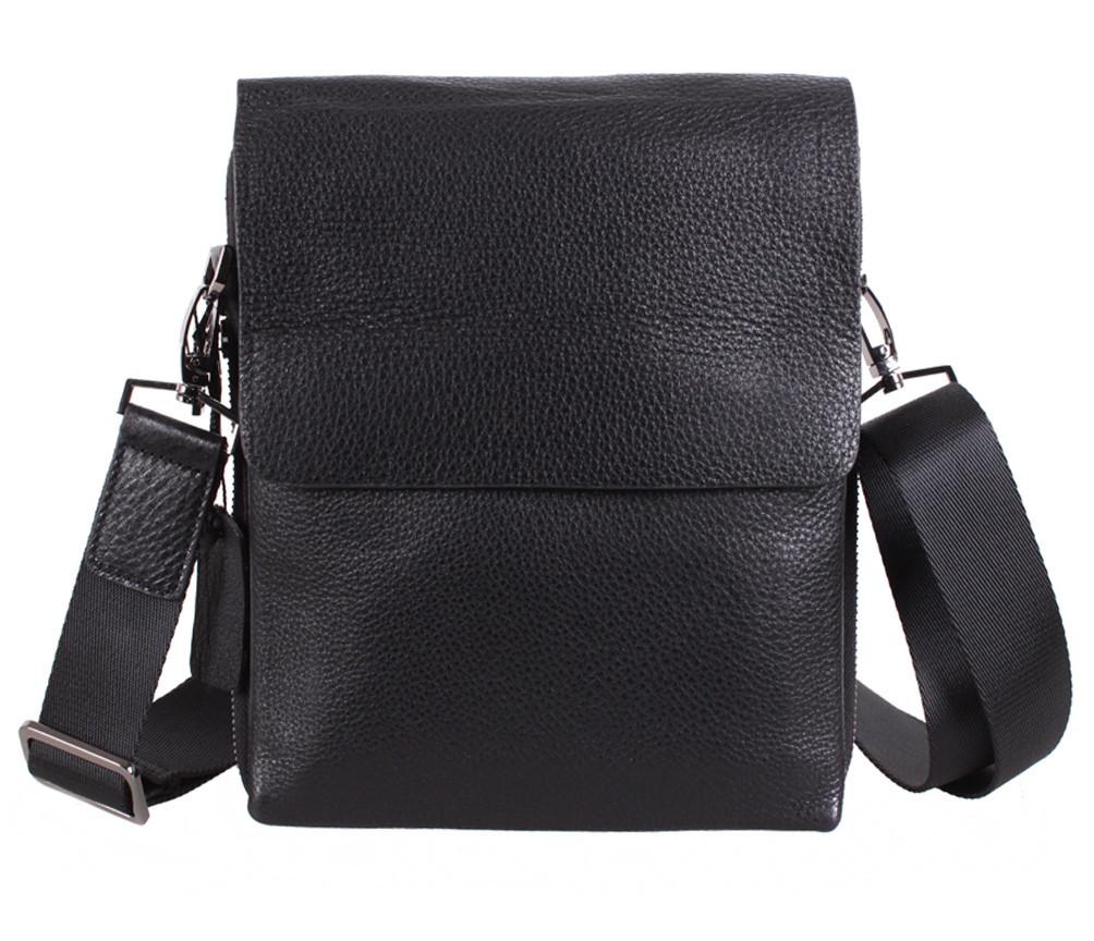 Мужская кожаная сумка Dovhani DL5120-448 Черная