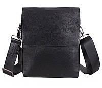 Мужская кожаная сумка Dovhani DL5120-448 Черная, фото 1