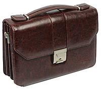 Барсетка мужская из кожзаменителя Professional S848.23 коричневая
