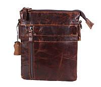 Мужская кожаная сумка Dovhani BB101010 Коричневая, фото 1
