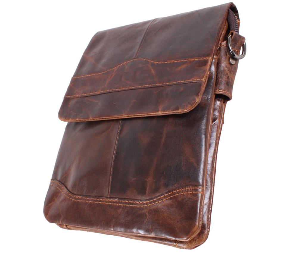 Мужская кожаная сумка Dovhani BB386355 Коричневая