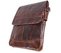 Мужская кожаная сумка Dovhani BB386355 Коричневая, фото 1