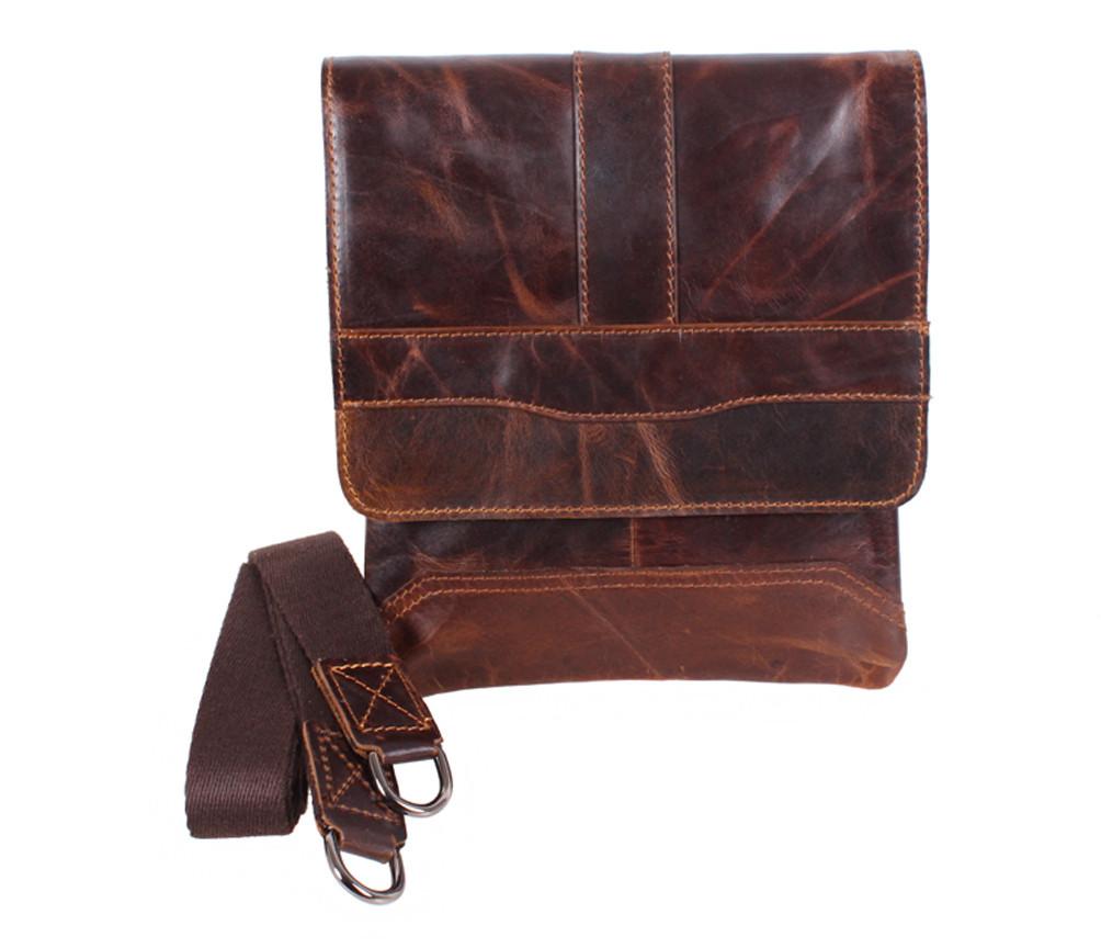 Мужская кожаная сумка Dovhani BB534125 Коричневая