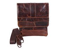 Мужская кожаная сумка Dovhani BB534125 Коричневая, фото 1