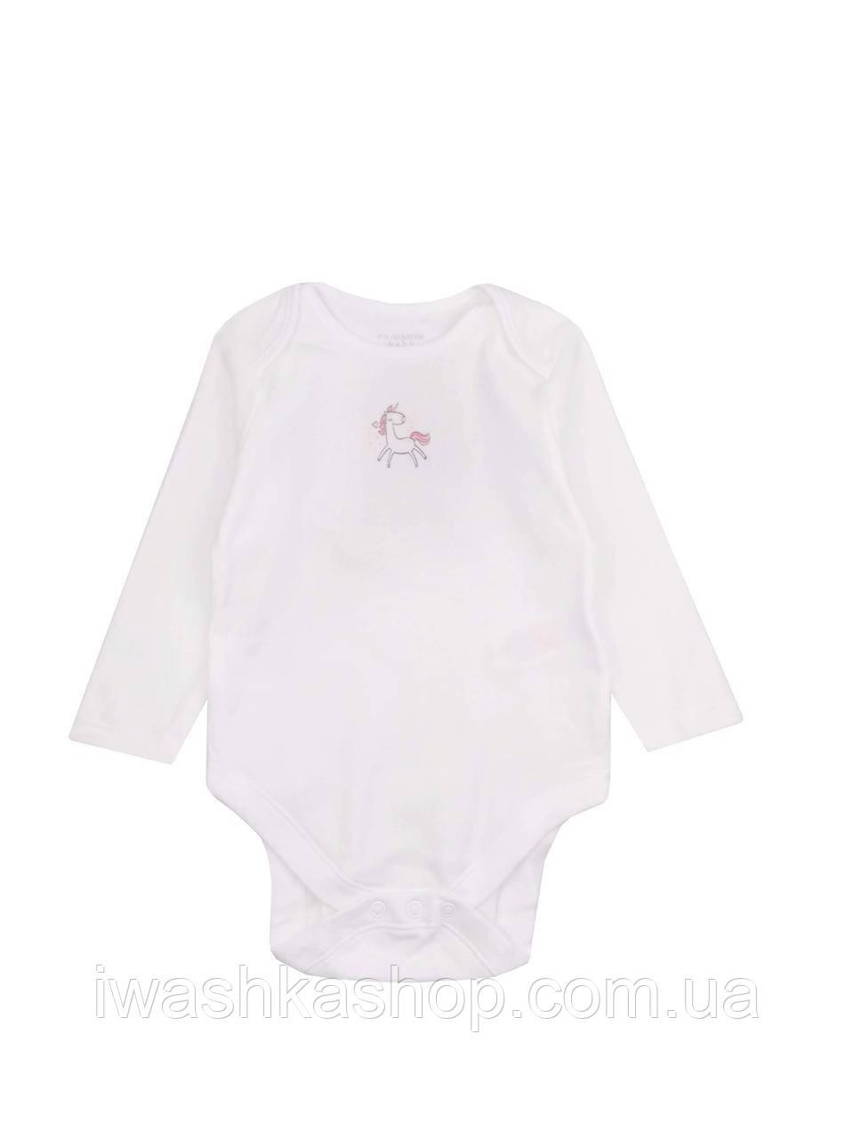Белое боди с длинными рукавами для новорожденных девочек до 4,5 кг., Early days by Primark