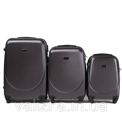 Набір валіз пластикових 3 шт малий, середній, великий Wings темно-сірий, фото 2
