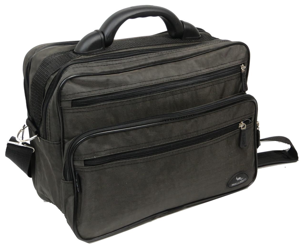 Тканевый сумкой портфель Wallaby 2653 хаки