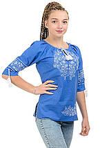 Модна жіноча вишиванка Модерн, джинс, фото 2