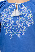Модна жіноча вишиванка Модерн, джинс, фото 3