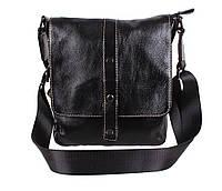 Мужская кожаная сумка Dovhani BL800667 Черная, фото 1