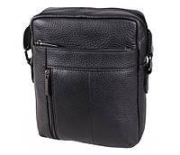 Мужская кожаная сумка Dovhani BL919595 Черная, фото 1