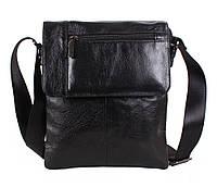 Мужская кожаная сумка Dovhani BL3803238 Черная, фото 1