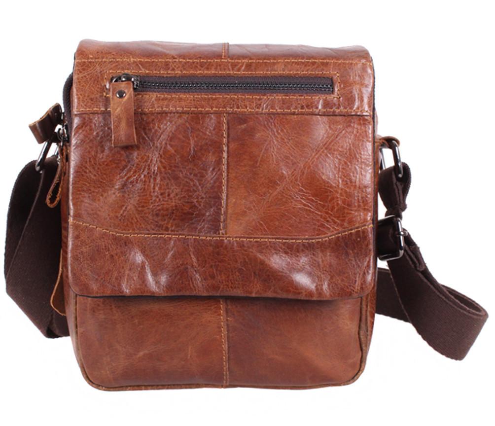 Мужская кожаная сумка Dovhani BR136313 Коричневая