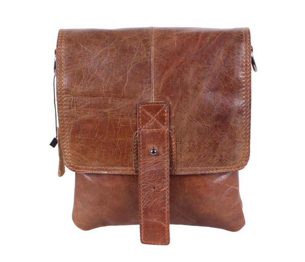 Мужская кожаная сумка Dovhani BR630505 Коричневая