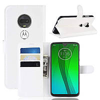 Чехол-книжка Litchie Wallet для Motorola Moto G7 Белый