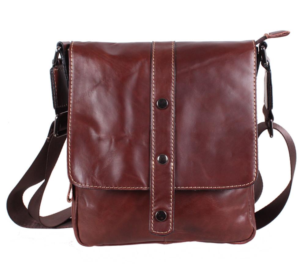 Мужская кожаная сумка Dovhani BR8006006 Коричневая