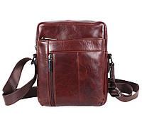 Мужская кожаная сумка Dovhani BR9195195 Коричневая, фото 1