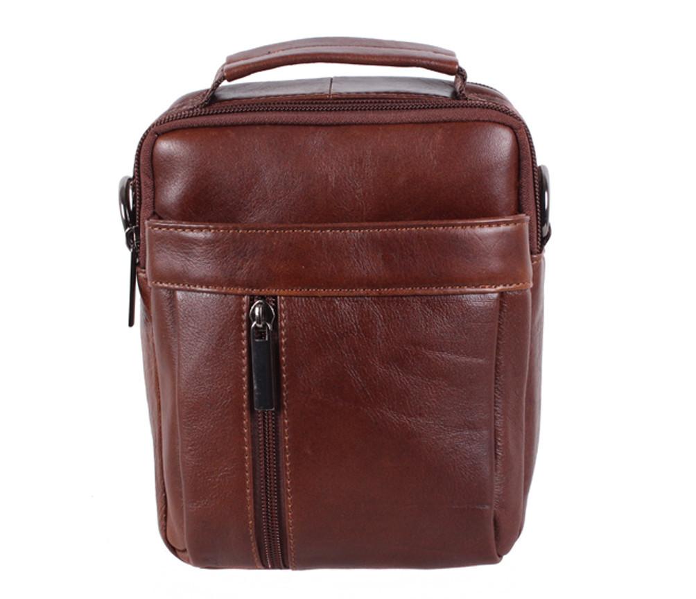 Мужская кожаная сумка Dovhani BR935445 Коричневая