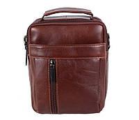 Мужская кожаная сумка Dovhani BR935445 Коричневая, фото 1