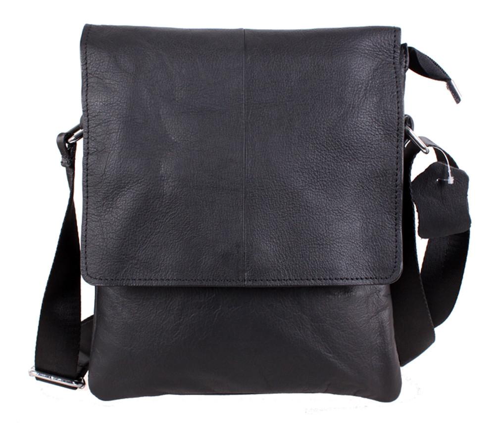 Мужская кожаная сумка Dovhani MESS8138-13 Черный