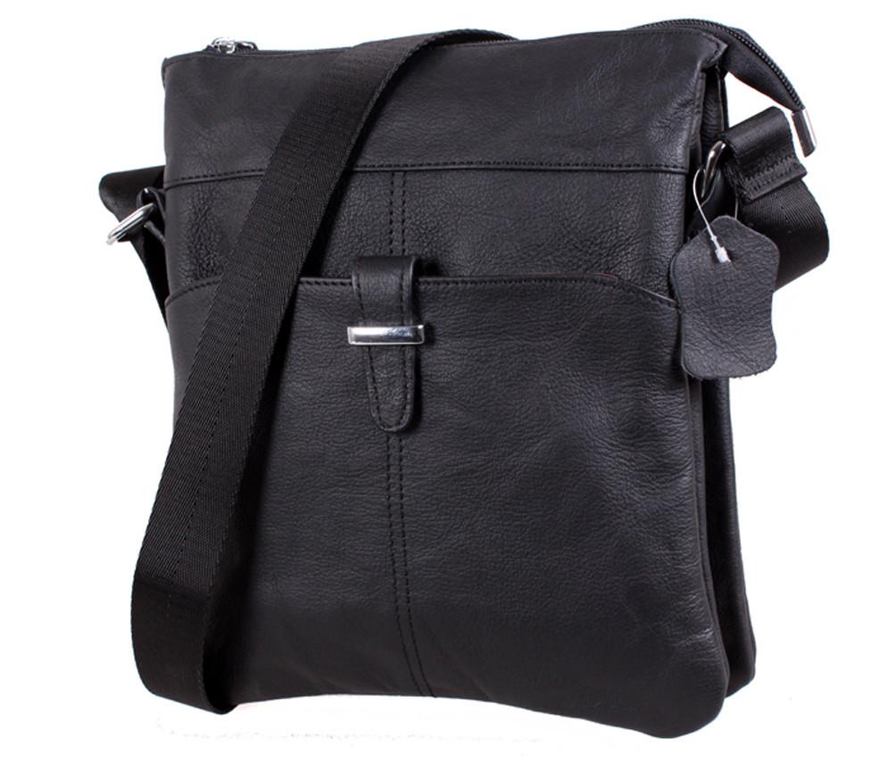 Мужская кожаная сумка Dovhani MESS81399 Черный 27х21,5х7см