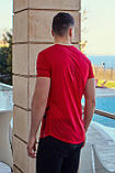 Футболка мужская красная, фото 3