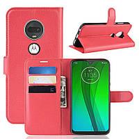 Чехол-книжка Litchie Wallet для Motorola Moto G7 Красный