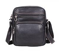 Мужская кожаная сумка Dovhani LA3225-113 Черный, фото 1