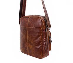 Мужская кожаная сумка Dovhani LA3225-235 Коричневая, фото 3