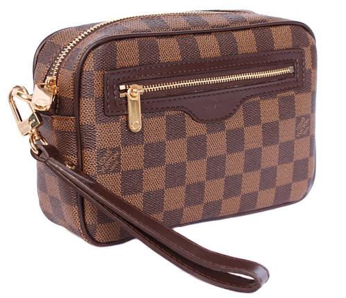 Клатч мужской кожаный L.V. 30020220 Коричневый, фото 2
