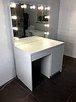 Гримерный комплект однотумбовый 1 000×600×800 мм. Гримерный комплект. Гримерное зеркало с подсветкой. Мебель.