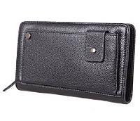 Клатч мужской кожаный Dovhani BLACK003-335 Черный, фото 1