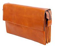 Клатч мужской кожаный Dovhani WHEAT003-58 Рыжий, фото 1