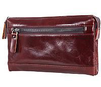 Клатч мужской кожаный Dovhani COFFEE005-444А Бордовый, фото 1