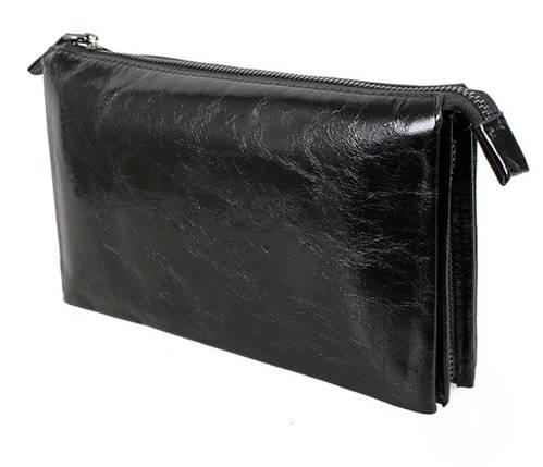 Клатч мужской кожаный Dovhani BLACK006-154 Черный, фото 2
