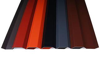 Планка примыканий (лиштва) Abwerg Alu 71мм х 2 п.м алюминний  вишневый - RAL 3004
