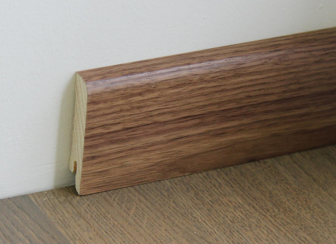Дерев'яний плінтус Pedross American Walnut Varnished 70мм