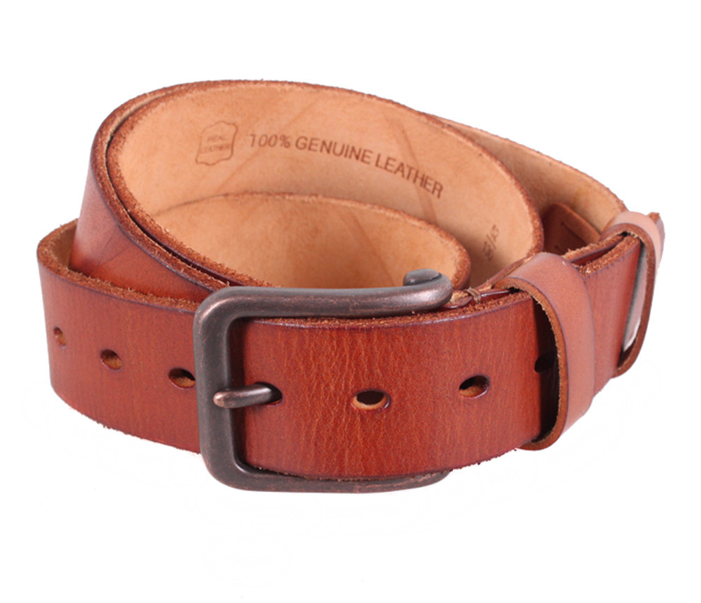 Мужской кожаный ремень Dovhani BUFF000-220 115-130 см Рыжий