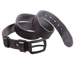 Мужской кожаный ремень Dovhani BUFF000-1111 115-130 см Черный, фото 3