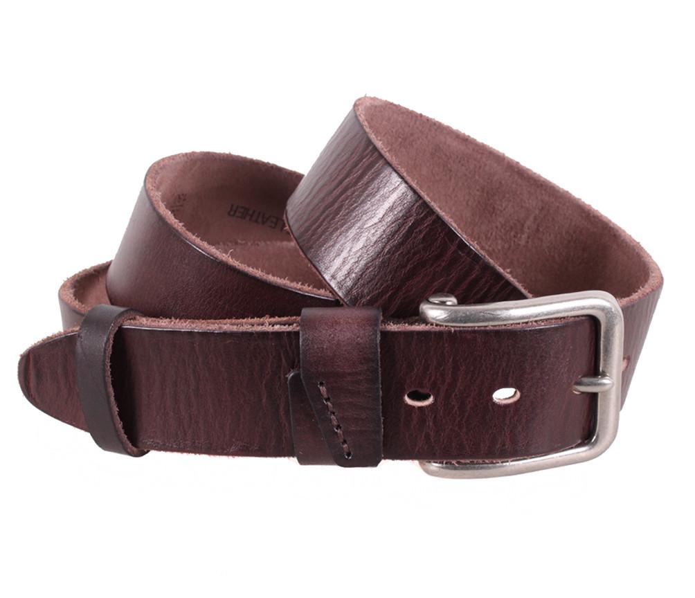 Мужской кожаный ремень Dovhani BUFF000-777 115-130 см Коричневый