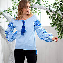 Блузки с этно вышивкой  - Голубки, фото 3