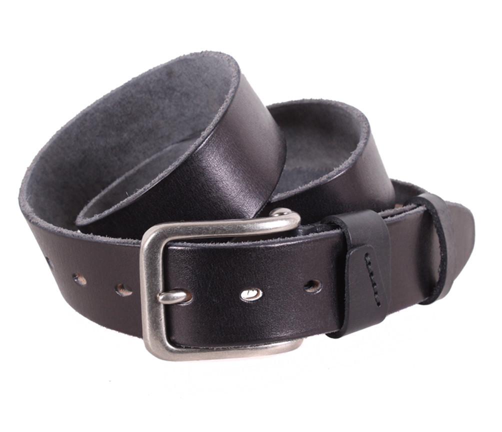 Мужской кожаный ремень Dovhani BUFF000-888 115-130 см Черный